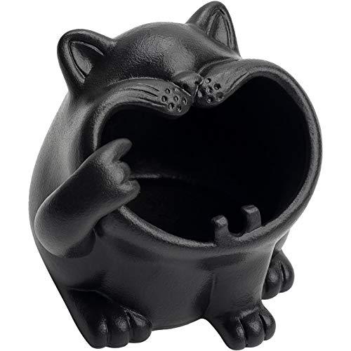 LYQZ Ceniceros de cerámica Animal Lindos para el Cigarrillo, Titular de la Ceniza del Gato de la Historieta al Aire Libre para la decoración de la encimera de la Oficina en casa Personalidad