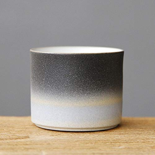 Taza de té de cerámica de cerámica de cerámica de estilo japonés Teaware Master Cup retro taza de té taza individual taza Kung fu, set de té de cerámica grande y L azul