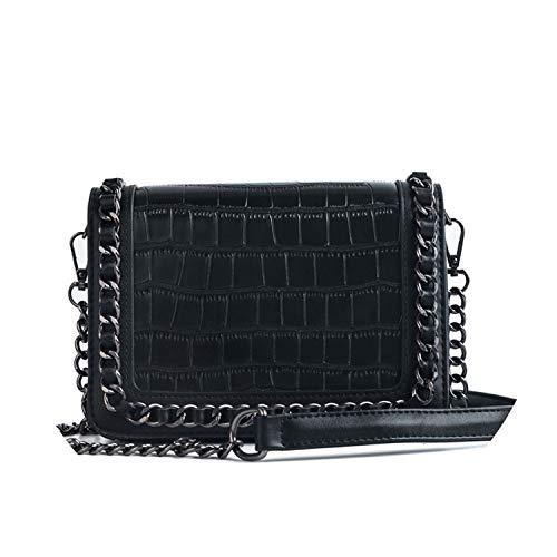 Taschen Alligator Krokodilleder Crossbody Taschen Fe Chain Schultertaschen, Schwarz - Schwarz - Größe: Einheitsgröße