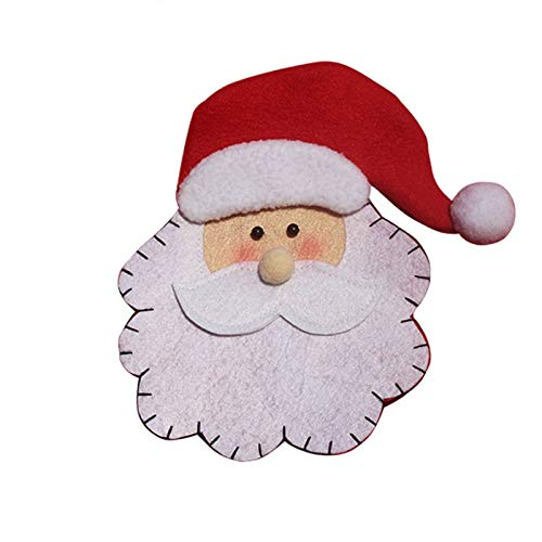 Bureze 8 portacandele Natalizi, Decorazioni Natalizie a Forma di Babbo Natale