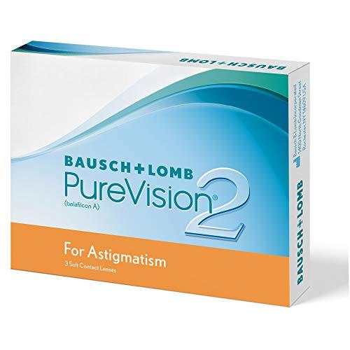 PureVision2 HD for Astigmatism Monatslinsen weich, 3 Stück BC 8.9 mm / DIA 14.5 / CYL -1.25 / Achse 180 / -8.5 Dioptrien