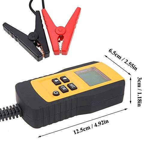 TERMALY Autobatterie Tester 12v,Autobatterie Tester,Messgeräte Für Auto,Elektrofahrzeug, Autobatterie-Detektor, Prüfgerät für Innenwiderstand/Lebensdauer/Batteriestromkapazität,A