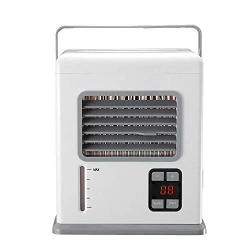 YANGLOU -Apartamento con aire acondicionado sin v- - Refrigeradores evaporativos Acondicionador de aire de espacio personal, 4 en 1 Mini enfriador de aire de espacio personal USB, humidificador, purif