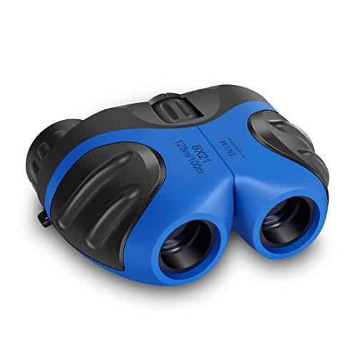 Binocular for Kids, Happy Gift Compact Birding Wide Field of Wiew Binocular Teen Boy Birthday Presents Gifts Boys Toys 3-12(Blue)