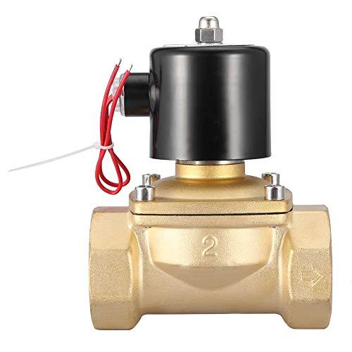 Válvula solenoide, DN50 Válvula solenoide eléctrica de latón bidireccional de 2