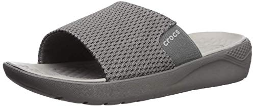 Crocs Literide Mesh Slide M, Sandali punta chiusa Uomo, Grigio (Smoke/Pearl White 000), 42/43 EU