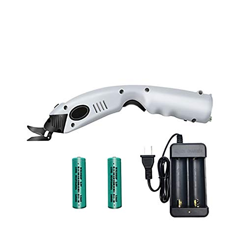 Great Price! MXBAOHENG Electric Cordless Scissors Fabric Cutter Portable Battery Operated Scissors for Cutting Cardboard/Paper/Cloth/Leather/Carpet w/ 2 Batteries