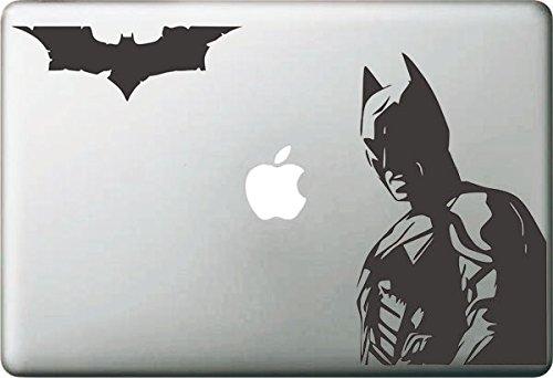 Vati Hojas desprendibles Creativo Piel Batman y Amigo de la Etiqueta engomada del Arte Negro para Apple Macbook Pro Aire Mac 13' 15' Pulgadas/Unibody 13' 15' Pulgadas Portátil