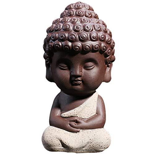 JETTINGBUY Cute Small Buddha Statue Monk Figurine tathagata India Yoga Mandala Sculptures