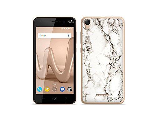 etuo Handyhülle für Wiko Lenny 4 - Hülle Fantastic Case - Weißer Marmor - Handyhülle Schutzhülle Etui Case Cover Tasche für Handy