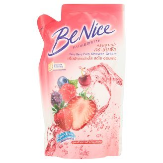 Be Nice : Berry Berry Purify Shower Cream Fruit Mixture & Whitening Complex 200 ml. (Refill) Best Seller of Thailand
