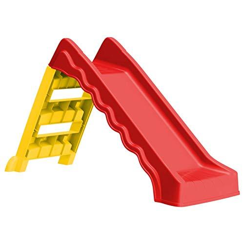 pedkit Tobogán para Niños Plegable Interior y Exterior Tobogán Infantil para Jardín Rojo y Amarillo