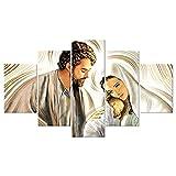 Lupia Quadro Sacro 5 Pezzi in Legno Vogue 66X115 cm Nativity...