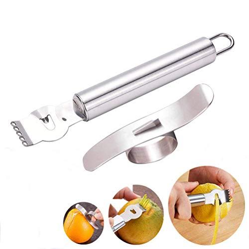 YFOX Zitronenschäler und Orangenschäler - Kitchen Professional Peeling Tool Orange Citrus Peeling Tool aus Edelstahl