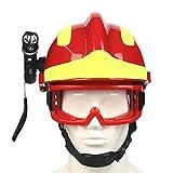 OWSOO Casco di Salvataggio di Emergenza F2 Caschi di Sicurezza per Vigili del Fuoco Antincendio Casco di Protezione Casco Protettivo Antiurto Resistente al Calore