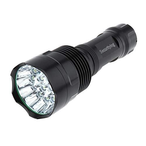SecurityIng 16LEDs 5400lumens Taschenlampe, extra hell, wasserdicht 5Modi, kraftvolle Taschenlampe für Camping/Notfall zu Hause/Geschenke (Akku nicht enthalten).