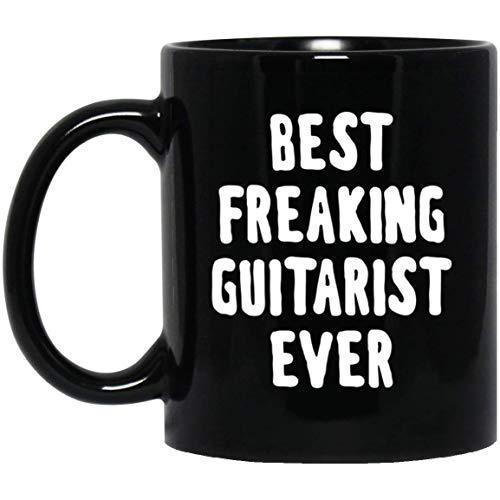 Ahdyr Taza Taza de café El Mejor Guitarrista Maldito de Todos los Tiempos 11 oz. Taza Negra