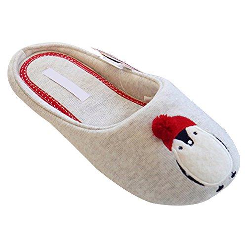 DULEE Herbst Winter Warm Schuhe Nette Pinguin Pattern Indoor Boden Hausschuhe, Größe 36-37