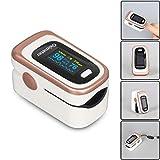 yingmu Pulsossimetro, Ossigeno Monitor Dito Cardiofrequenzimetro Ossigeno Saturazione Monitor per...
