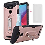 Asuwish Phone Case for LG G6 with Tempered Glass Screen
