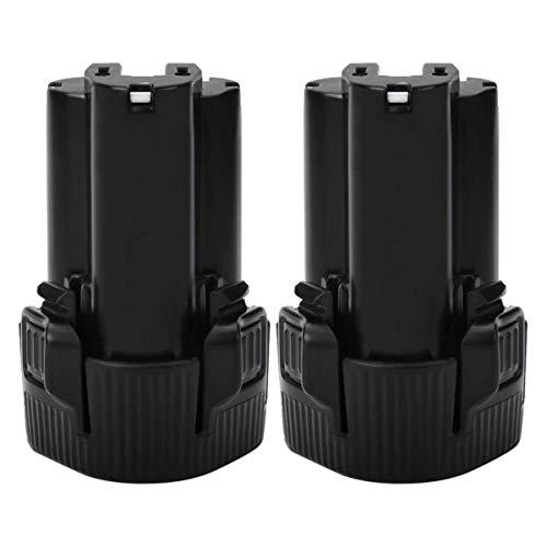 Exmate 2500mAh Li-ion (2 Pack) Batería de repuesto para Makita 10.8V BL1013 BL1014 DF030D DF330D LCT203W 194550-6 194551-4 195332-9