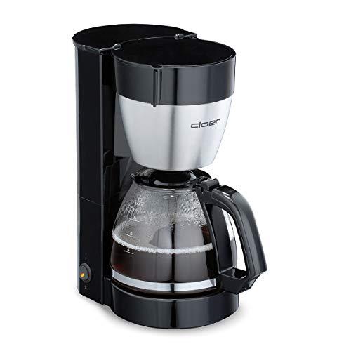 Cloer 5019 Filterkaffee-Automat mit Warmhaltefunktion / 800 W / 10 Tassen / Filtergrösse 1x4