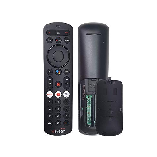 7SEVEN Compatible AIRTEL Xstream Set Top Box HD & SD with Recording Feature (with Voice Function) (Black), Support Google Assistant Key