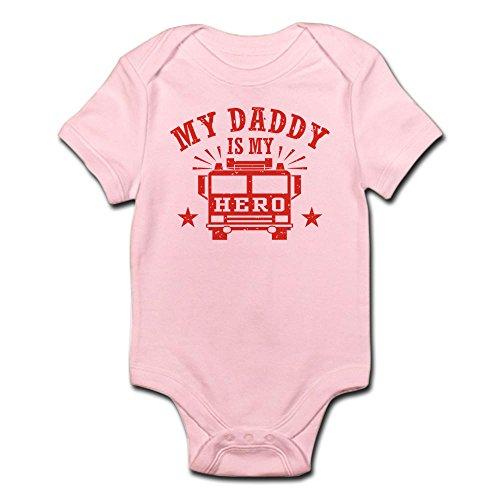 CafePress My Daddy is My Hero Firefighter Infant Bodysuit Cute Infant Bodysuit Baby Romper Petal Pink
