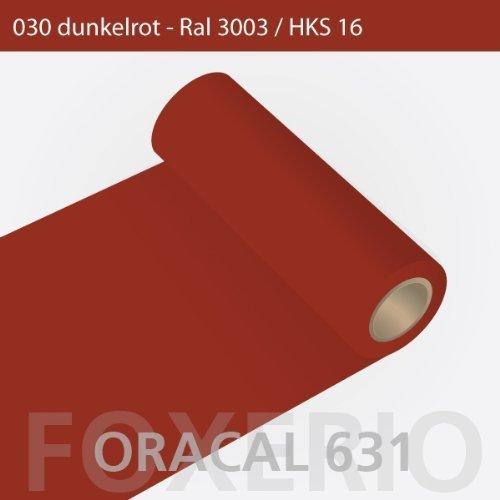 Orafol - Oracal 631 - 63cm Rolle - 5m (Laufmeter) - Dunkelrot / matt, A26oracal - 631 - 5m - 63cm - 06 - kl - Autofolie / Möbelfolie / Küchenfolie