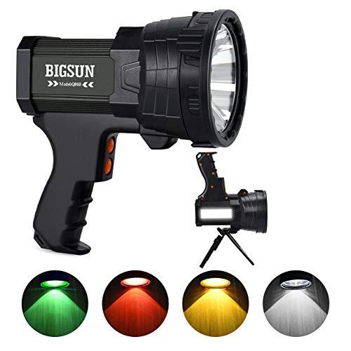 BIGSUN Q953 Rechargeable Multicolor LED Spotlight, Super Bright...