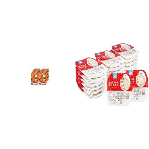 味の素 Cook Do 干焼蝦仁用 64g×10個 + Happy Belly パックご飯 新潟県産こしひかり 200g×20個(白米) 特別栽培米