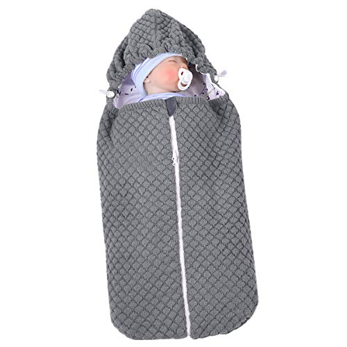 Nicoone Saco de dormir de punto para bebé recién nacido, manta de cochecito para bebés de 0 a 6 meses