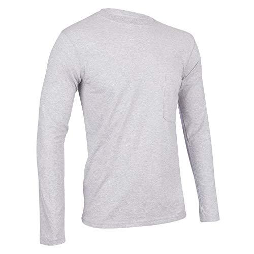 Insect Shield Men's UPF Dri-Balance Long Sleeve Pocket Tee, Heather Grey, Large