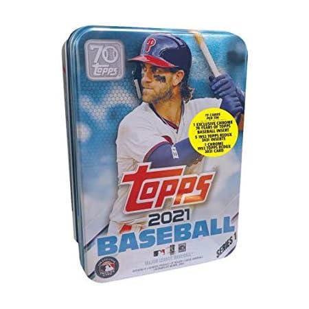 2021 Topps Series 1 MLB Baseball Tin (75 cards/bx, Harper)