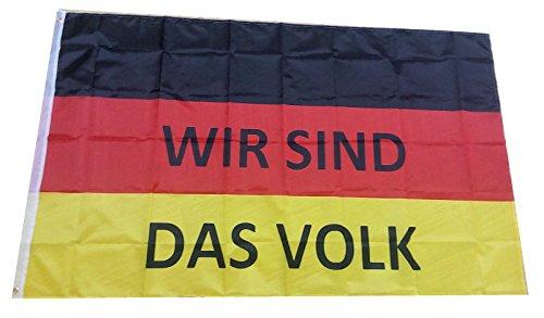 Wir Sind Das Volk Deutschland Fahne, 150 x 90 cm DDR Fahne, Widerstand Flagge, Pegida Protest Reichsfahne, Merkel Muss Weg