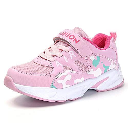 HSNA Zapatillas Deporte Niña Zapatos de Gimnasia Niña pequeñas Running Zapatos Deportivos Aire(Malla Rosa 34 EU)