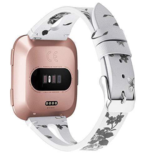 ibasenice Compatibile per Fitbit Versa/ Versa Lite/ Fitbit Versa 2- Cinturino in Pelle Cinturino di Ricambio per Cinturino Compatibile per Fitbit Smartwatch
