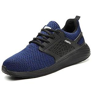 41xG8+FPxBL. SS300  - Zapatillas de Seguridad Hombres Hembra, Zapatos de Trabajo con Punta de Acero Ultra Liviano Suave y cómodo Industriales Transpirable