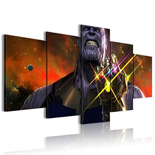 CNLB Cinque poster dipinti film Avengers Infinity War Conference decorazione 150x80cm incorniciato