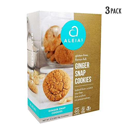 Aleia's Gluten Free Ginger Snap Cookies 9 oz, Pack of 3