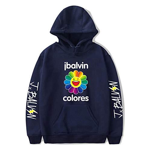 J Balvin - Sudadera con capucha y capucha para mujer, unisex, con capucha, diseño de álbum de colores