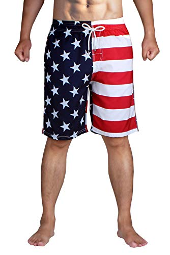 HLVEXH Men's Swim Trunks Quick Dry with Mesh Lining and Pockets