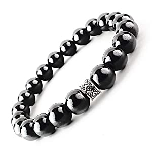 ONE ION 10mm Authentic Black Tourmaline Bracelet (8 Inches)