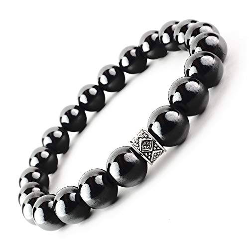 ONE ION 10mm Authentic Black Tourmaline Bracelet (9 Inches)