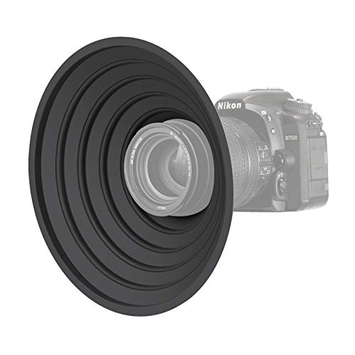 Neewer Paraluce Antiriflesso per Fotocamera Reversibile Pieghevole con Attacco Filettato per Fotocamere Digitali, Adatto a Obiettivi con Filettature 5