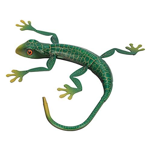 SHWYSHOP Gecko - Decoración de pared 3D para colgar en la pared de metal, para decoración del hogar y la cocina