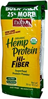 Nutiva - Organic Hemp Protein Plus Fiber - 30 oz. ( 4-Pack)