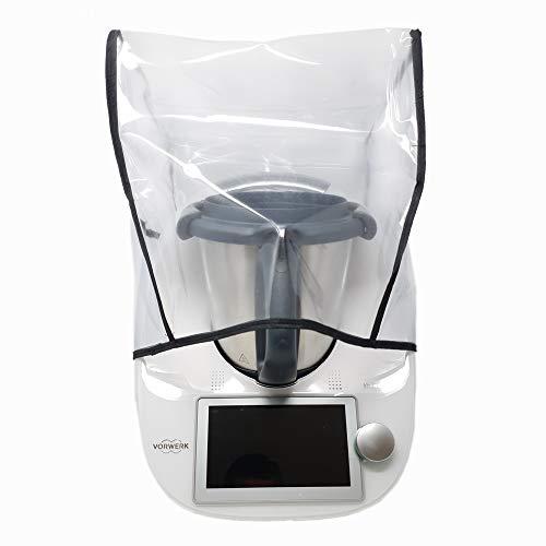 Mix-Slider – Schutzhülle für Thermomix, Abdeckhaube für TM5, TM6, TM31 und andere Küchengeräte (Transparent/schwarz)