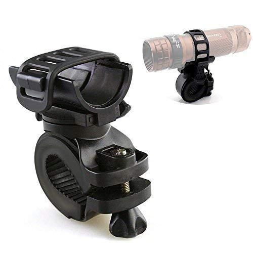 EZYoutdoor Universal Bike Flashlight Holder Adjustable Light Mount Led...