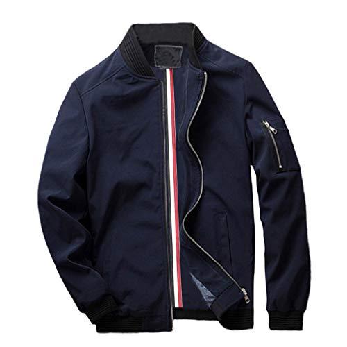 Strungten Herren Jacke Übergangsjacke Bomberjacke Collegejacke Fliegerjacke Langarm Jacke für Business Freizeit mit Revers Blouson Jacke...